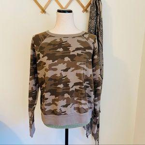 ✨ 5/$25 ✨ Camo Print Pullover Sweatshirt